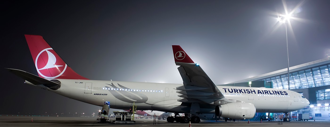turkish airlines a330 at delhi 1