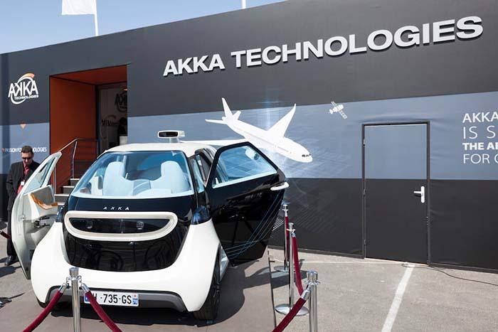 Link & Go, el coche autónomo de AKKA en el Salón del Aire de París 2015