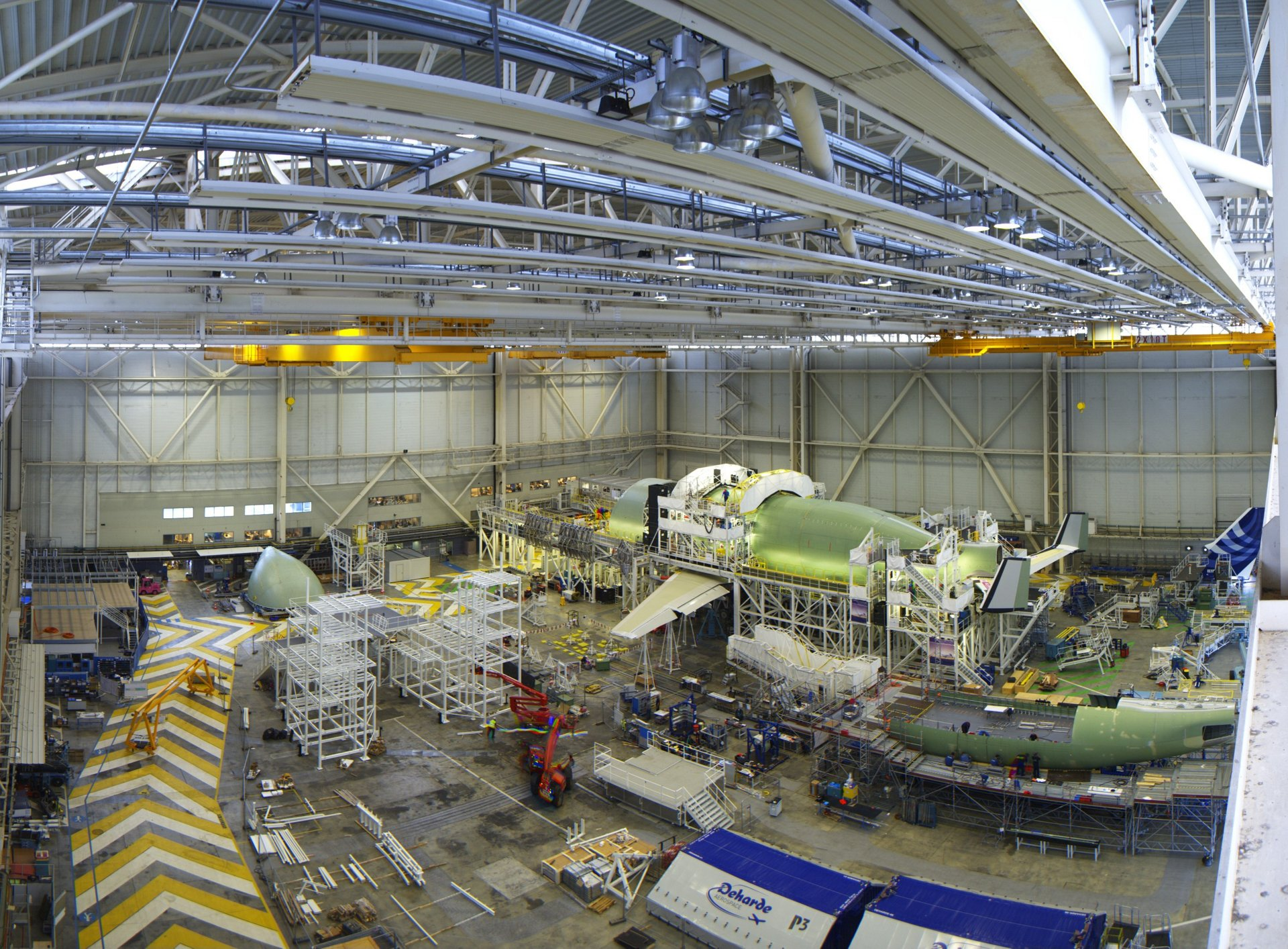 First BelugaXL in assembly at Toulouse Blagnac