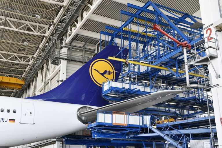 lufthansa tecnik munich mantenimiento cola aviones a350 a330 a340