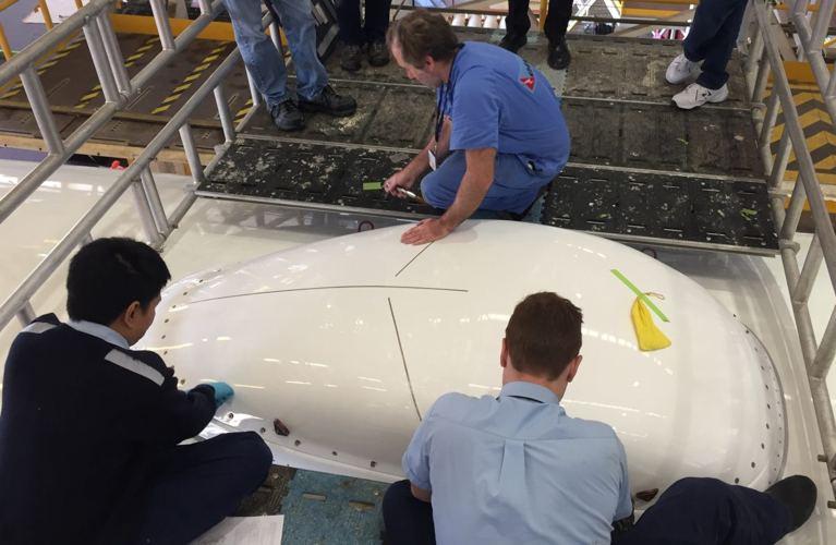 qantas radomo instalacion wifi aviones airbus a330